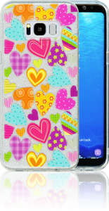 Samsung Galaxy S8 PLUS  MM Hearts Glitter Hybrid