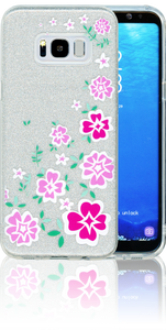 Samsung Galaxy S8 PLUS  MM Flowers Glitter Hybrid