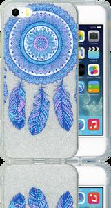 Iphone 5/5S/SE  MM Feathers Glitter Hybrid