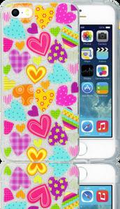 Iphone 5/5S/SE  MM Hearts Glitter Hybrid