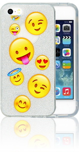 Iphone 5/5S/SE  MM Emoji Glitter Hybrid