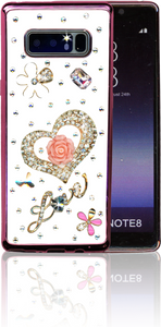 Samsung Galaxy Note 8  MM Bling 3D Heart