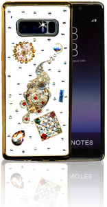 Samsung Galaxy Note 8  MM Bling 3D Peacock
