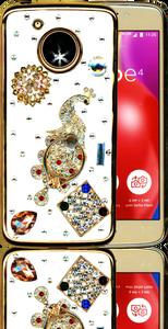 Motorola E4  MM Bling 3D Peacock