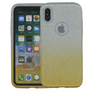 Iphone X/10/XS MM Glitter Hybrid (Two Tone) Gold