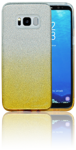 Samsung Galaxy S8 MM Glitter Hybrid (Two Tone) Gold