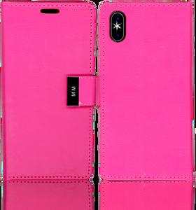Iphone X/10/XS MM Premium Folio Wallet Hot Pink