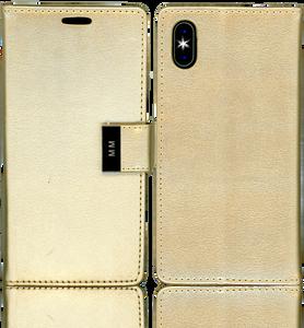 Iphone X/10/XS MM Premium Folio Wallet Gold
