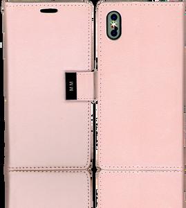 Iphone X/10/XS MM Premium Folio Wallet Rose Gold