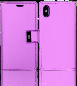 Iphone X/10/XS MM Premium Folio Wallet Purple