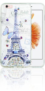 Iphone 6/6S MM Electroplated Bling Paris Butterfly