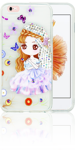 Iphone 6 PLUS/6S PLUS MM Electroplated Bling Girl 2