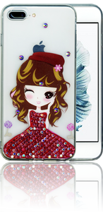Iphone 6 PLUS/6S PLUS MM Electroplated Bling Girl 3