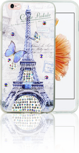 Iphone 6 PLUS/6S PLUS MM Electroplated Bling Paris Butterfly