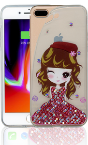 Iphone 7 PLUS/8 PLUS MM Electroplated Bling Girl 3