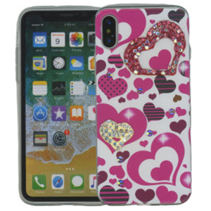Iphone X/10/XS MM Electroplated Bling Heart