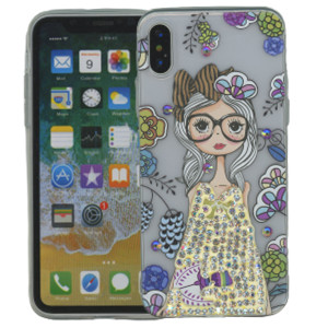 Iphone X/10/XS MM Electroplated Bling Girl 1