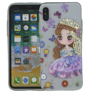 Iphone X/10/XS MM Electroplated Bling Girl 2
