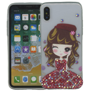 Iphone X/10/XS MM Electroplated Bling Girl 3