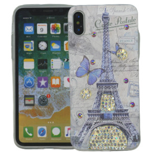 Iphone X/10/XS MM Electroplated Bling Paris Butterfly