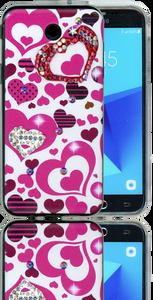 Samsung Galaxy J3 Emerge MM Electroplated Bling Heart
