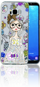 Samsung Galaxy S8 PLUS  MM Electroplated Bling Girl 1