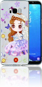 Samsung Galaxy S8 PLUS  MM Electroplated Bling Girl 2