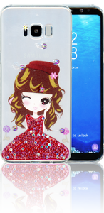 Samsung Galaxy S8 PLUS  MM Electroplated Bling Girl 3