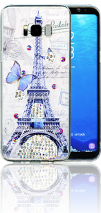 Samsung Galaxy S8 PLUS  MM Electroplated Bling Paris Butterfly