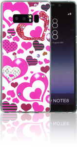 Samsung Galaxy NOTE 8 MM Electroplated Bling Heart.