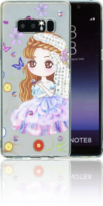Samsung Galaxy NOTE 8 MM Electroplated Bling Girl 2.