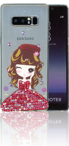 Samsung Galaxy NOTE 8 MM Electroplated Bling Girl 3.
