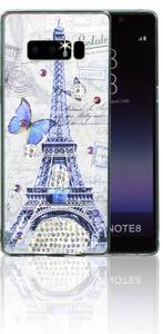 Samsung Galaxy NOTE 8 MM Electroplated Bling Paris Butterfly.
