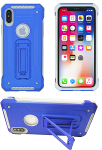 IPHONE X/10/XS  MM Opal Kickstand Case BLUE(Tempered Glass Included)
