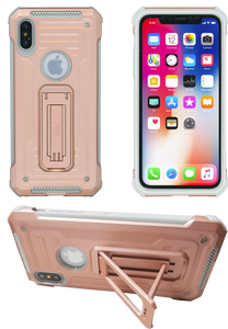IPHONE X/10/XS MM Opal Kickstand Case ROSE GOLD(Tempered Glass Included)