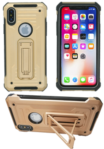 IPHONE X/10/XS  MM Opal Kickstand Case GOLD(Tempered Glass Included)