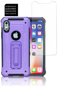 IPHONE X/10/XS  MM Opal Kickstand Case PURPLE(Tempered Glass Included)