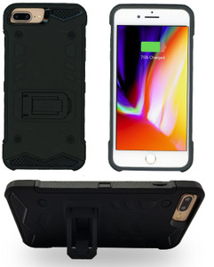 IPHONE 8 PLUS /7 PLUS  MM Opal Kickstand Case BLACK(Tempered Glass Included)