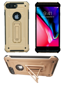 IPHONE 8 PLUS /7 PLUS  MM Opal Kickstand Case GOLD(Tempered Glass Included)