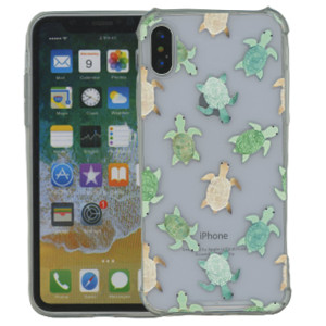 Iphone X/10/XS MM Opal Art Series Turtle(Tempered Glass Included)