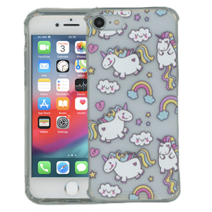 Iphone 8/7 MM Opal Art Series Unicorn(Tempered Glass Included)
