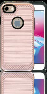 Iphone 8/7 Carbon Fiber Metal Rose Gold