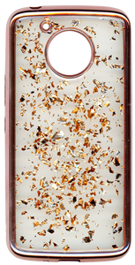 Motorola E4 PLUS Electroplated glitter bling Rose Gold