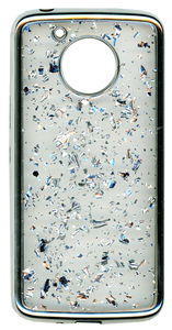 Motorola E4 PLUS Electroplated glitter bling Silver