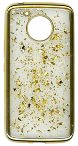 Motorola E4 PLUS Electroplated glitter bling Gold