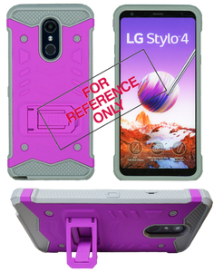Samasung Galaxy J3 Emerge MM Opal Kickstand Case Purple(Tempered Glass Included)