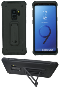 Samasung Galaxy S9 MM Opal Kickstand Case Black(Full Curved  Tempered Glass Included)