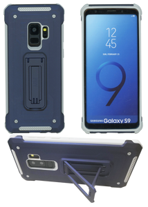 Samasung Galaxy S9 MM Opal Kickstand Case Blue(Full Covered Tempered Glass Included)