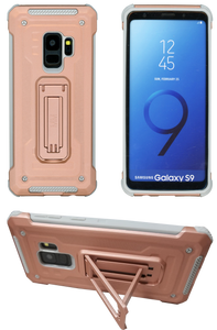 Samasung Galaxy S9 MM Opal Kickstand Case Rose Gold(Full Curved  Tempered Glass Included)
