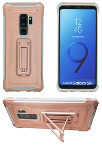 Samasung Galaxy S9 Plus MM Opal Kickstand Case Rose Gold(Full Curved  Tempered Glass Included)